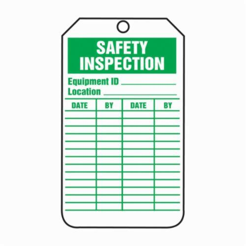 Accuform® TRS315CTP Safety Tag, 5-3/4 in H x 3-1/4 in W, Green/White, 3/8 in Hole, PF-Cardstock