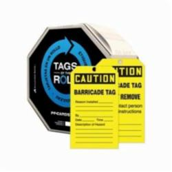 Accuform® TAR136 Tags By-The-Roll™ Safety Tag, 6-1/4 in H x 3 in W, Black/Yellow, 3/8 in Hole, PF-Cardstock
