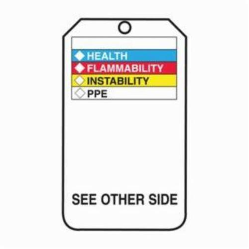 Accuform® THS601PTP Hazardous Material Tag, 3/8 in Hole, RP-Plastic