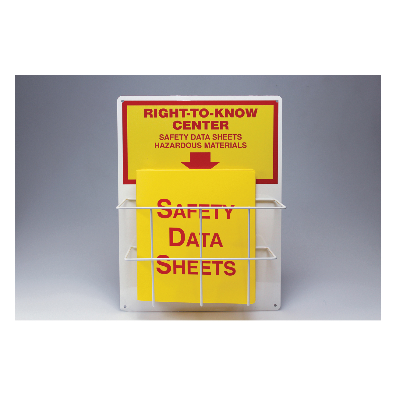 Accuform® ZRS326 RTK Center Board Kit, RIGHT TO KNOW CENTER SAFETY DATA SHEETS HAZARDOUS MATERIALS Legend, English, 20 in H x 15 in W, Aluminum, Wall Mount
