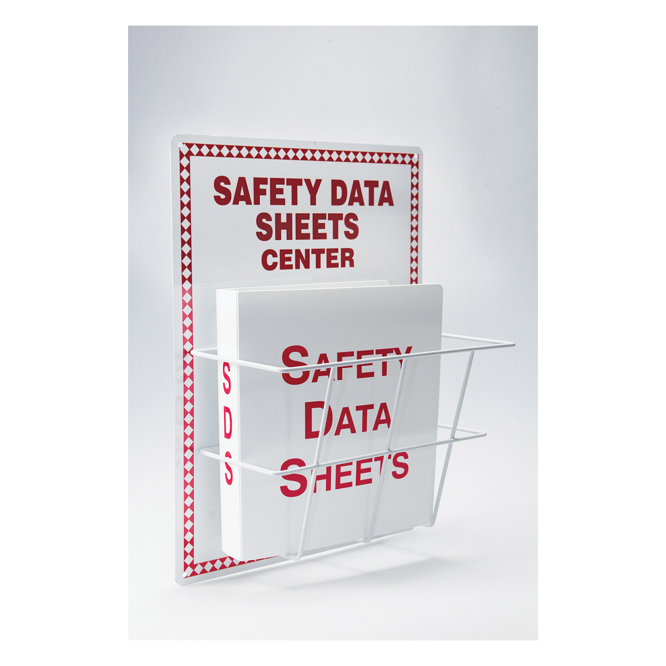 Accuform® ZRS409 SDS Center Board Kit, SAFETY DA SHEETS CENTER Legend, English, 20 in H x 15 in W, Aluminum, Wall Mount