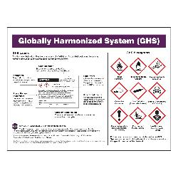 Accuform® ZTP139 Laminated Right-to-Know GHS Poster, Globally Harmonized System (GHS) Poster, Plastic, 18 in H x 24 in W, English