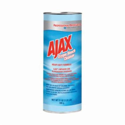 Ajax® 14278 Heavy Duty Bleach Cleanser, 21 oz Canister, Powder, Off-White