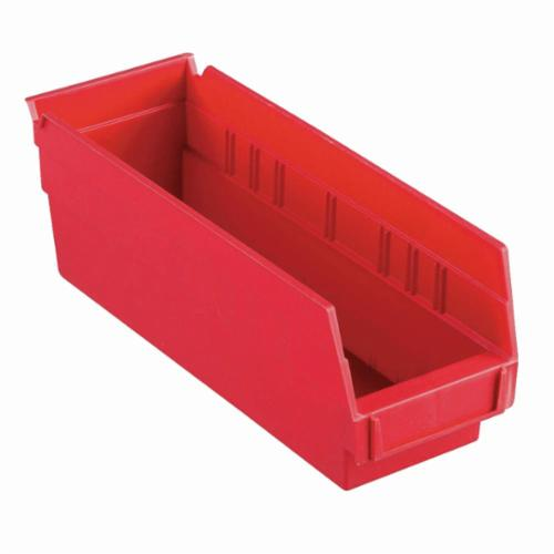 Akro-Mils® 30120RED Shelf Bin, 11-5/8 in L x 4-1/8 in W x 4 in H, 78 cu-in, Red