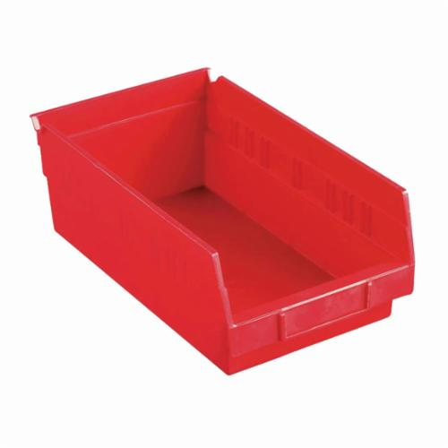 Akro-Mils® 30130RED Shelf Bin, 11-5/8 in L x 6-5/8 in W x 4 in H, 128 cu-in, Red