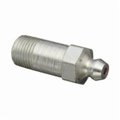 Alemite® 1607-B Straight Thread Forming Grease Fitting Zerk, 1/8 in PTF SAE Special Short Thread, 1-1/4 in OAL, 25/32 in L Shank, Steel, Trivalent Zinc Plated
