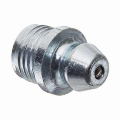 Alemite® 1608-B Drive-In Straight Grease Fitting, 35/64 in OAL, 1/4 in L Shank, Copper/Nickel, Trivalent Zinc Plated