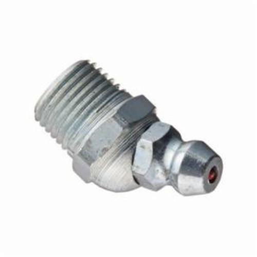 Alemite® 1611-B 30 deg Thread Forming Grease Fitting, 1/8 in PTF SAE Special Short Thread, 29/32 in OAL, 19/64 in L Shank, Steel, Trivalent Zinc Plated