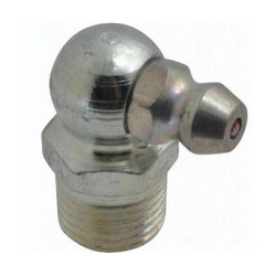 Alemite® 1613-B Lubrication Fitting, 1/8-27 PTF Thread, 27/32 in OAL, 19/64 in L Shank, Steel, Trivalent Zinc Plated