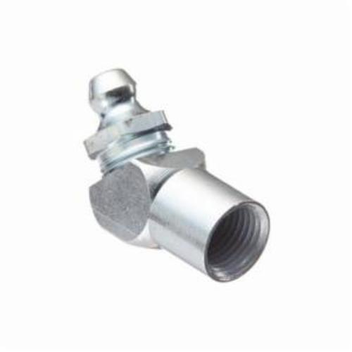 Alemite® 1620-B 45 deg Thread Forming Grease Fitting Zerk, 1/8 in FNPT Thread, 1-1/8 in OAL, 13/32 in L Shank, Steel, Trivalent Zinc Plated