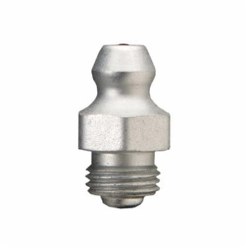 Alemite® 1631-B Straight Hydraulic Fitting, 5/16-32 UNEF-2A Thread, 21/32 in OAL, 15/64 in L Shank, Copper/Nickel, Trivalent Zinc Plated