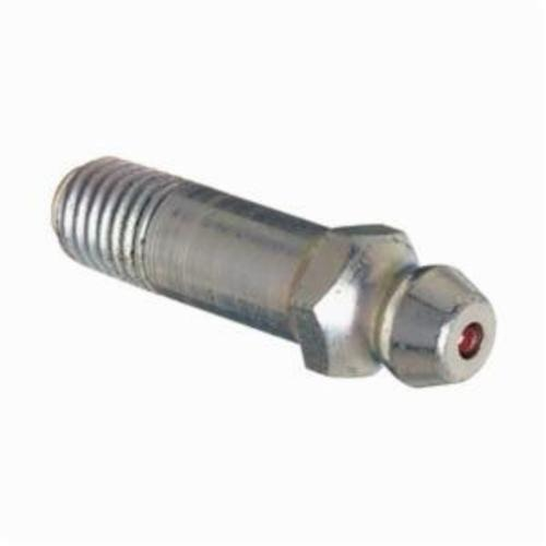 Alemite® 1698-B Straight Thread Forming Grease Fitting Zerk, 1/4-28 SAE-LT Male Taper Thread, 1-1/8 in OAL, 25/32 in L Shank, Steel, Trivalent Zinc Plated