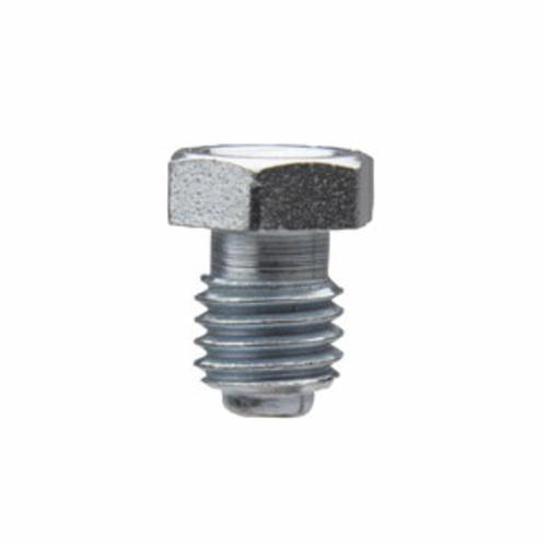 Alemite® 1851 Hex Flush Thread Fitting, 1/4-28 UNF Thread, 13/32 in OAL, 19/64 in L Shank, Steel, Zinc Clear
