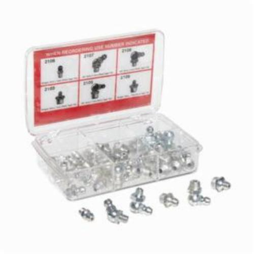 Alemite® 2371 Grease Fitting Kit, 44 Pieces, Steel