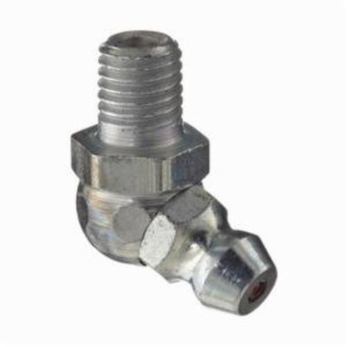 Alemite® 3010-B1 65 deg Thread Forming Grease Fitting Zerk, 1/4-28 SAE-LT Male Taper Thread, 25/32 in OAL, 19/64 in L Shank, Steel, Trivalent Zinc Plated