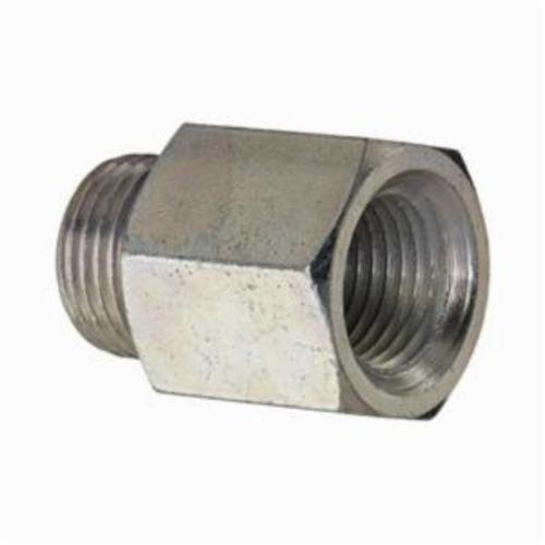 Alemite® 305859 Straight Grease Fitting Adapter, 7/16-27 UNS-2A Male x 1/8 in Female NPTF Thread, 0.78 in OAL, Steel, Zinc Plated