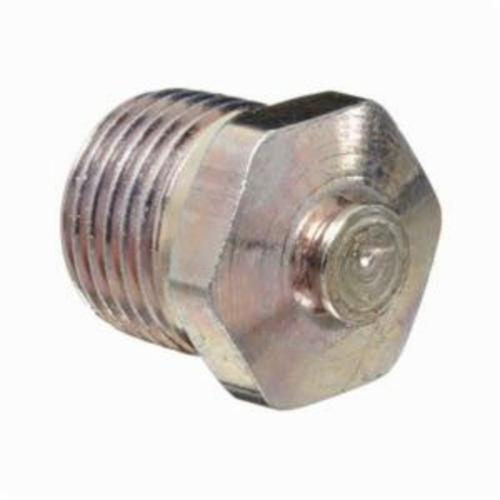 Alemite® 317400 Straight Top Vent Pressure Relief Fitting, 1/8 in PTF SAE Special Short Thread, 1/2 in OAL, 7/16 in L Shank, Carbon Steel, Zinc Yellow
