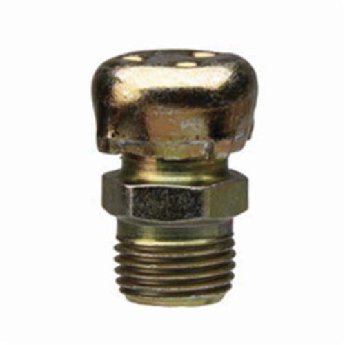 Alemite® 321620 Air Breather, 1/8 in PTF Thread, 25/32 in OAL, 17/64 in L Shank, Zinc Di-Chromate, Trivalent Zinc Plated
