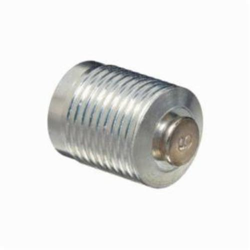 Alemite® 321839 Straight Top Vent Pressure Relief Fitting, 3/8 in MPTF Thread, 1/2 in OAL, 1/2 in L Shank, Carbon Steel, Zinc Clear