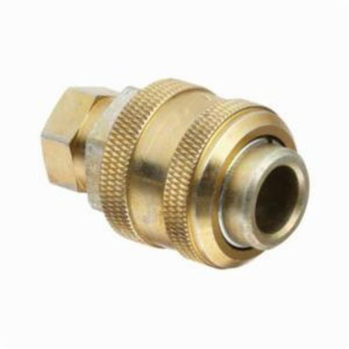 Alemite® 328030 Extra Heavy Duty Standard Compressed Air Coupler, 1/4 in Female NPTF Thread, Stainless Steel, Zinc Dichromate
