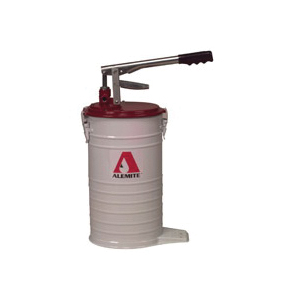 Alemite® 7181-4 High Volume Bucket Pump, Grease/Oil, Pull Handle Pump, 3.7 gal Container, 1 oz/Stroke Flow Rate
