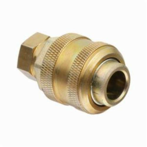 Alemite® B328030 Extra Heavy Duty Standard Compressed Air Coupler, 1/4 in Female NPTF Thread, Stainless Steel, Zinc Dichromate