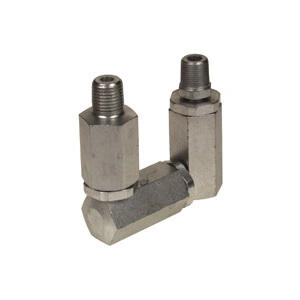 Alemite® B52752 Z-Type High Pressure Universal Swivel, For Use With Grease Hose Reels, 1/4 in NPTF x 1/2-27, 10000 psi