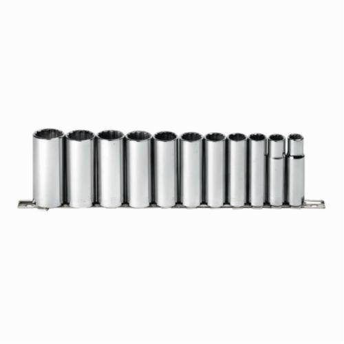 Allen® 56618G Long Key Set, 22 Pieces, 0.05 to 0.375 in, 1.5 to 10 mm Hex, L-Handle, Alloy Steel, Black Oxide