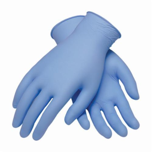 PIP® Ambi-dex® Turbo 63-332PF Disposable Gloves, Nitrile, Blue, 9.4 in L, Powder Free, Textured Grip, 5 mil THK, Application Type: Industrial Grade, Ambidextrous Hand