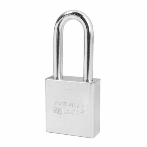 American Lock® A5201 Rekeyable Safety Padlock With 1-1/2 in Shackle, Keyed Different Key, 5/16 in Shackle, Solid Steel Body, 5-Pin Tumbler Cylindrical Locking