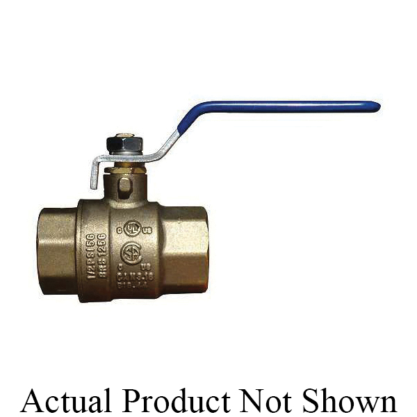 """American Valve® G101 1 1/2"""" 2-Piece Ball Valve, 1-1/2 in Nominal, FNPT End Style, Forged Brass Body, Full Port, PTFE Softgoods, Import"""