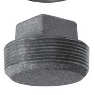 Anvil® 0318901923 FIG 388 Square Head Solid Plug, 1-1/4 in, MNPT, 125 lb, Cast Iron, Black, Domestic
