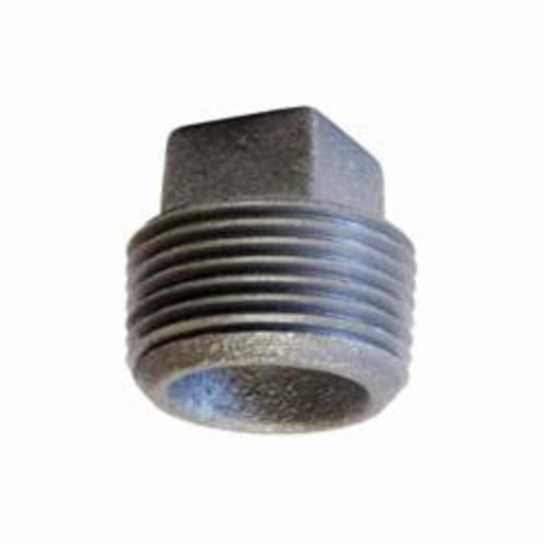 Anvil® 0318902681 FIG 387 Cored Square Head Plug, 3-1/2 in, MNPT, 125 lb, Cast Iron, Galvanized