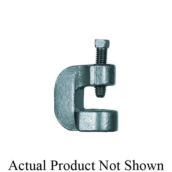 Anvil® 0500008016 FIG 88 C-Clamp With Set Screw, 1/2 in Rod, 400 lb Load, Malleable Iron, Black Oxide