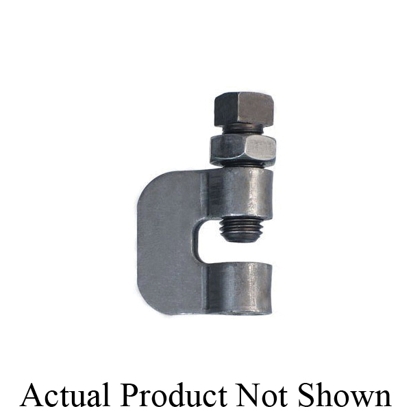 Anvil® 0500306501 FIG 95 C-Clamp With Locknut, 3/8 in Rod, 230 lb Load, Carbon Steel, Zinc Plated