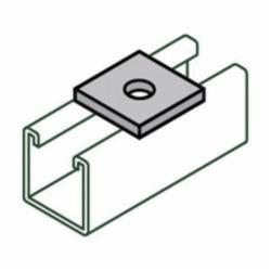 Anvil-Strut™ 2400007023 FIG AS 619 1-Hole Square Washer, 3/8 in, 1/4 in THK, Carbon Steel