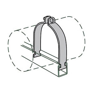 Anvil® 2400326209 FIG AS 1100 Pipe Clamp, 4 in Nominal, 1550 lb Load, 4-1/2 in OD, 11 ga Steel, Domestic