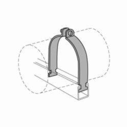 Anvil-Strut™ 2400326027 FIG AS 1100 Pipe Clamp, 1/2 in Nominal, 650 lb Load, 0.84 in OD, Steel, Domestic