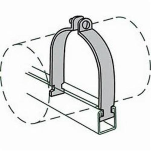 Anvil® Anvil-Strut™ 2400326241 FIG AS 1100 Pipe Clamp, 6 in Nominal, 1550 lb Load, 6-5/8 in OD, Steel, Domestic
