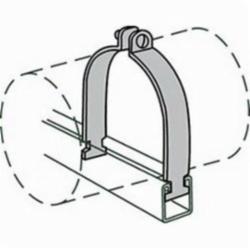 Anvil-Strut™ 2400326241 FIG AS 1100 Pipe Clamp, 6 in Nominal, 1550 lb Load, 6-5/8 in OD, Steel, Domestic