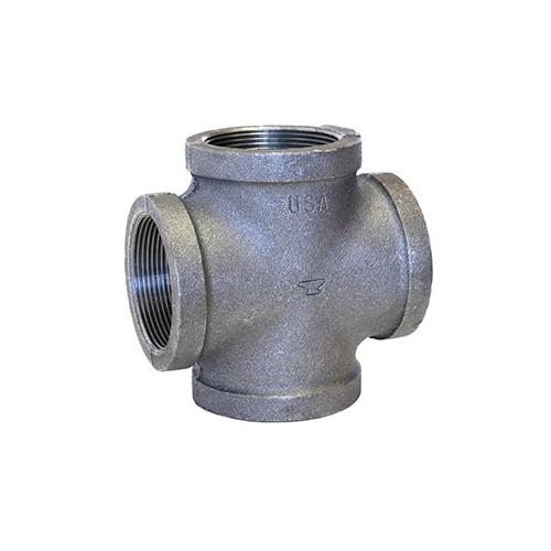Anvil® 0311069603 FIG 1107 Pipe Cross, 3/8 in, FNPT, 150 lb, Malleable Iron, Galvanized, Domestic