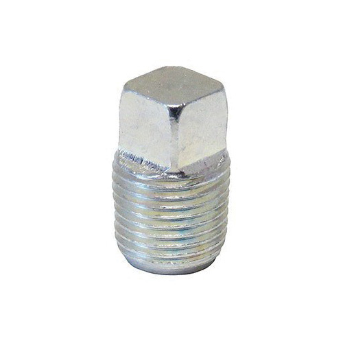 Anvil® 0319901443 Square Head Solid Plug, 1/8 in, MNPT, 125 lb, Merchant Steel, Galvanized