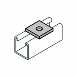 Anvil-Strut™ 2400208902 FIG AS 619 1-Hole Square Washer, 1/4 in, Carbon Steel, Electro-Galvanized