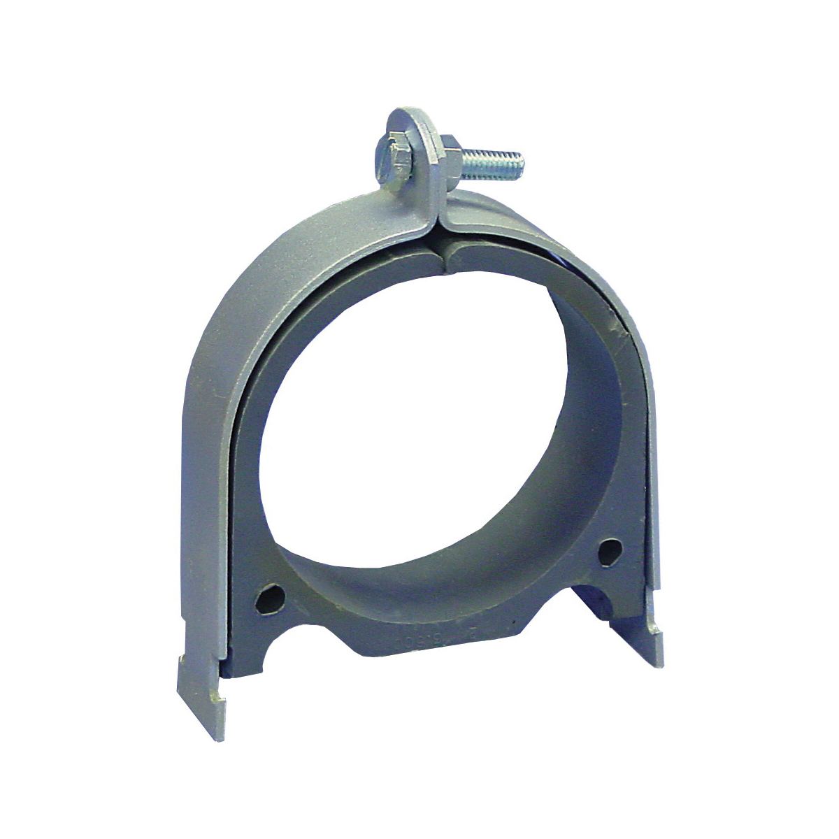 Anvil® Anvil-Strut™ 2400223612 FIG AS 032OD Cushion Clamp Assembly, 2 in Pipe, 800 lb Pullout/125 lb Transverse/125 lb Longitudinal Load, Carbon Steel, Electro-Galvanized, Domestic