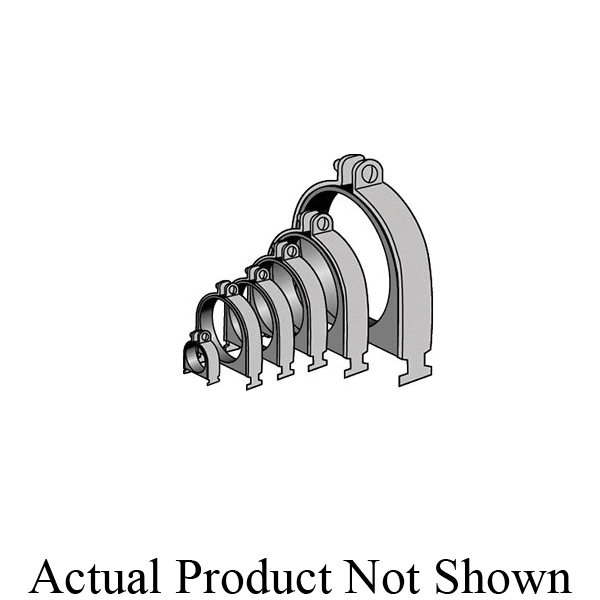 Anvil-Strut™ 2400367203 FIG AS 106P Cushion Clamp Assembly, 6 in Pipe, 1000 lb Pullout/200 lb Transverse/150 lb Longitudinal, Carbon Steel, Electro-Galvanized, Domestic