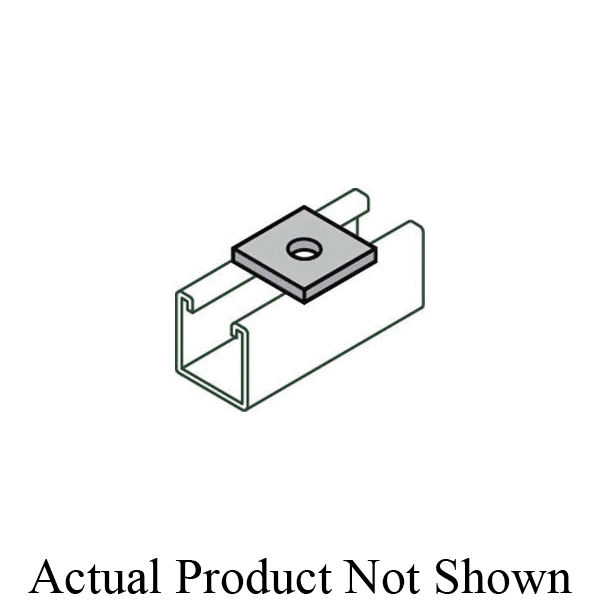 Anvil-Strut™ 2400007007 FIG AS 619 Square Washer, 1/4 in ID, 1/4 in THK, Carbon Steel