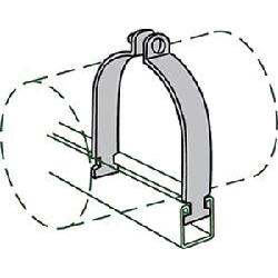 Anvil® Anvil-Strut™ 2400326167 FIG AS 1100 Pipe Clamp, 3 in Nominal, 1150 lb Load, 3-1/2 in OD, Steel, Domestic