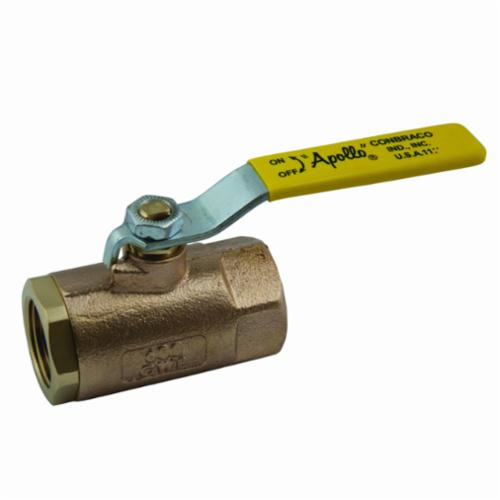 Apollo™ 70-103-27 70-100 2-Piece Ball Valve, 1/2 in, FNPT, Bronze Body, Standard Port, MPTFE/RPTFE Softgoods, Domestic
