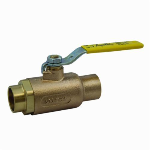 Apollo™ 70-204-01 70-200 2-Piece Ball Valve, 3/4 in Nominal, Solder End Style, Bronze Body, Standard Port, RPTFE/MPTFE Softgoods, Domestic