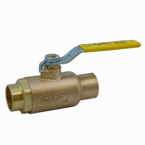 Apollo™ 70-208-01 70-200 2-Piece Ball Valve, 2 in Nominal, Solder End Style, Bronze Body, Standard Port, MPTFE/RPTFE Softgoods, Domestic